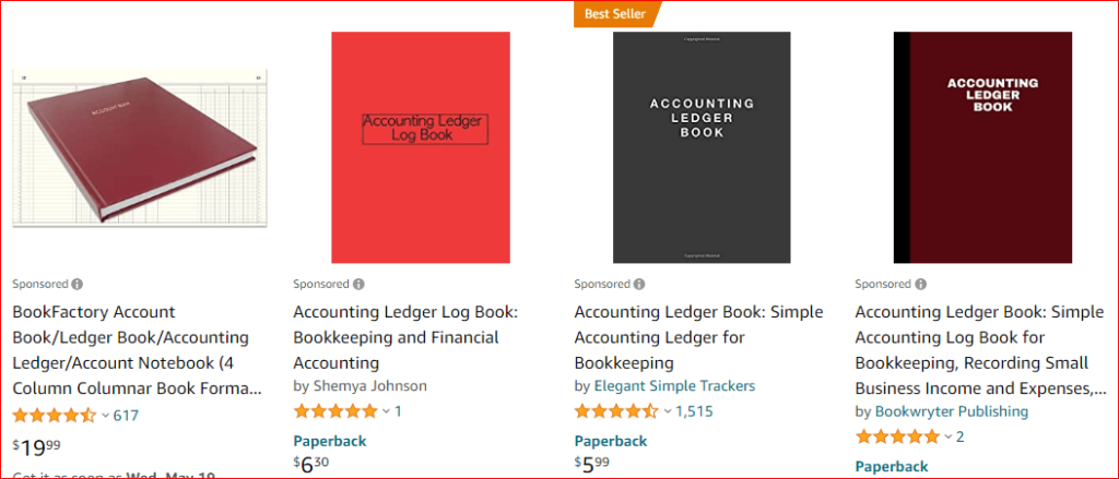 accounting ledger book on amazon
