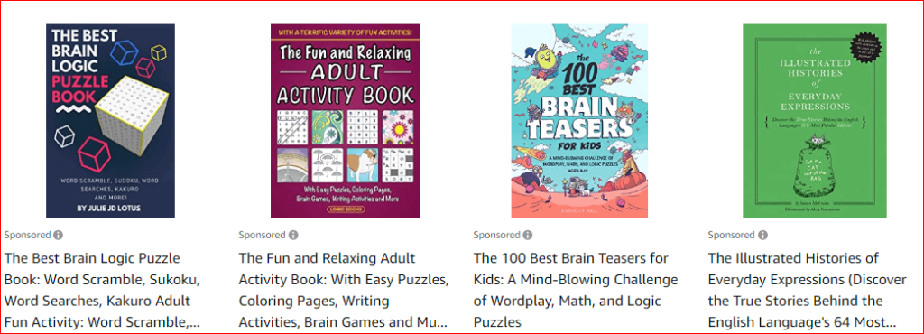 activity books for adults on amazon
