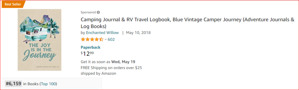 camping journal and travel log book amazon
