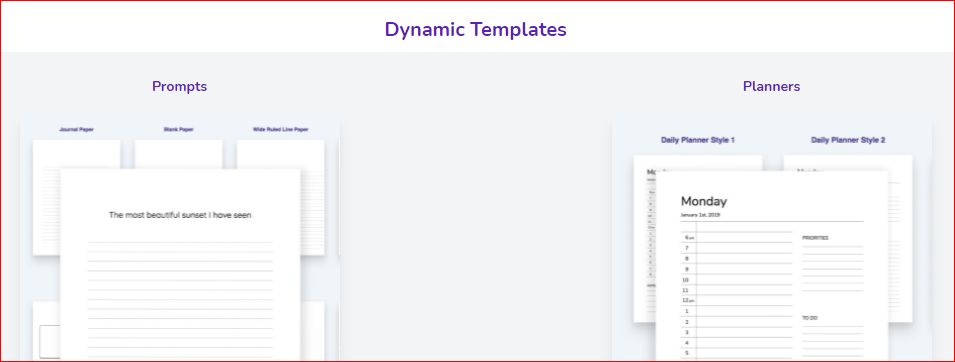 dynamic templates by tangent templates