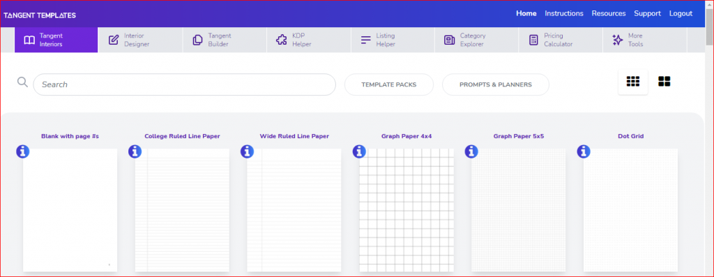 tangent templates tools and features