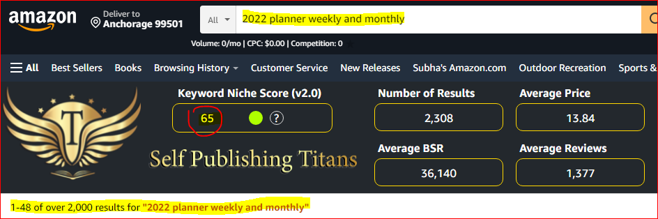 best_kdp_niches_2022 planner weekly and monthly