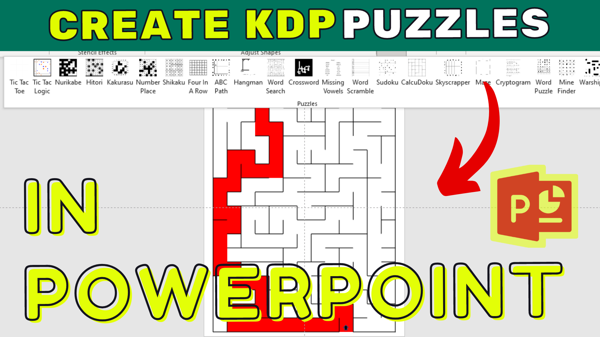 Puzzle Generator PowerPoint: Quickly Create Puzzles for KDP Low Content Books