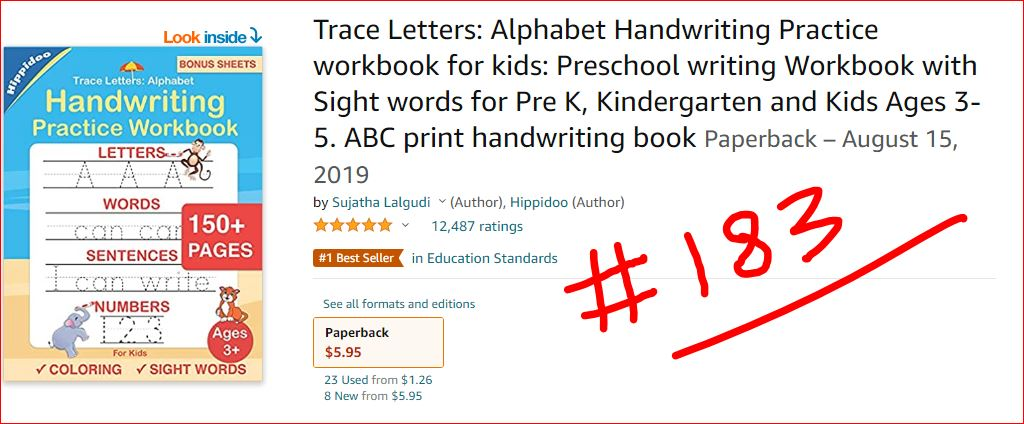 trace letters - letter tracing books for kids