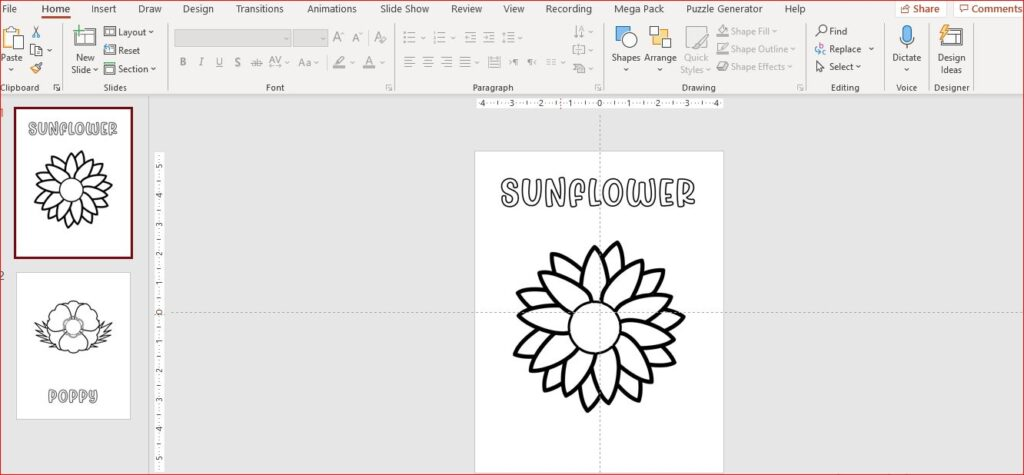 coloring book in powerpoint