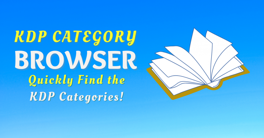 kdp category browser-quickly find kdp book categories