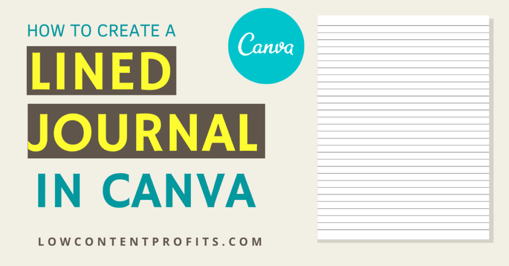 how to create a journal in canva for amazon kdp