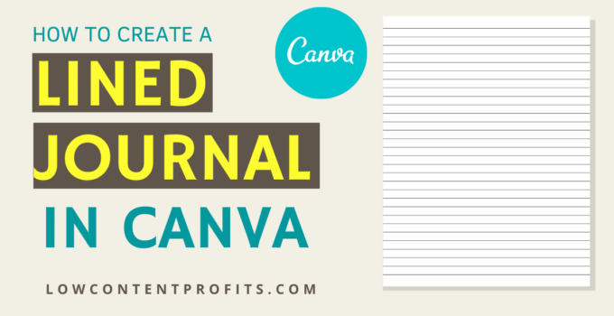 How to Create a Journal in Canva For Amazon KDP!