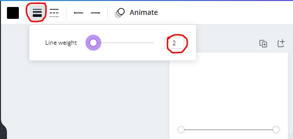 line weight in canva
