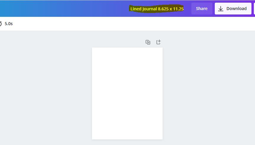 lined journal template in canva