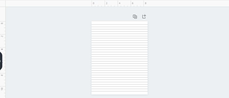 simple lined journal page in canva